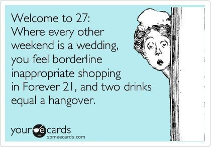 Haha! I've never shopped at Forever 21. And I sure as hell am no light weight. It'll take quite a few more to equal a hangover. Still young enough for that. ;)