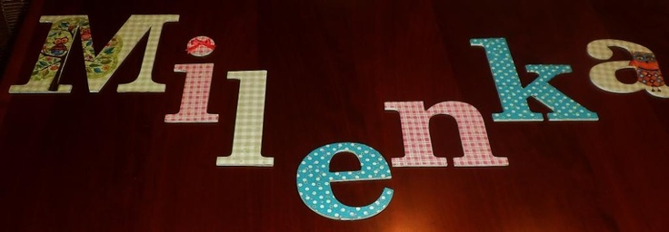 Baby's room letters
