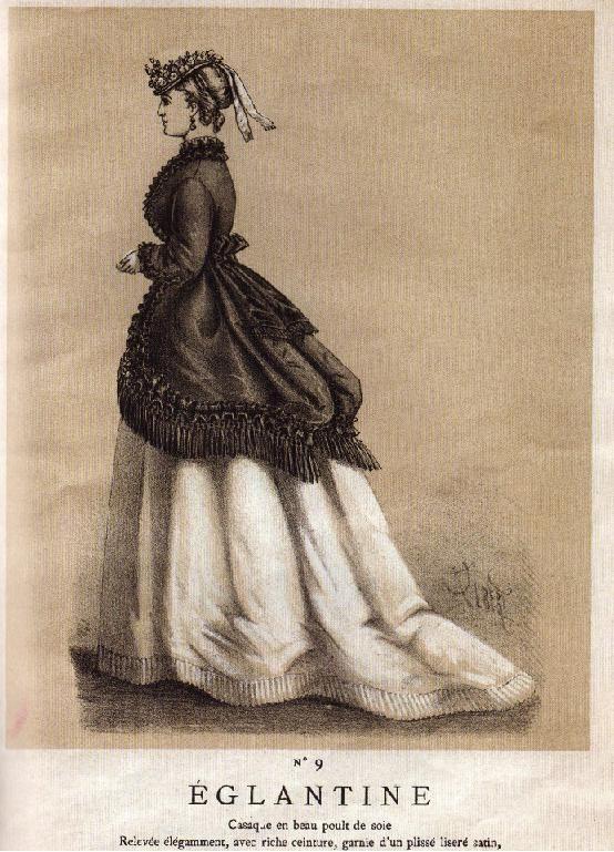 Page d'un catalogue de mode du Bon Marché - 1869