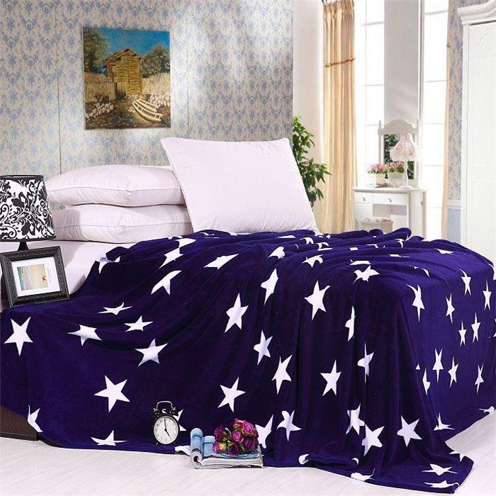 Aliexpress.com: Compre Dropshipping nova mantas e colchas para cama Cobertor cobertores de lã de Coral suave luz azul estrelas , de confiança cobertor com mangas modelo fornecedores em Organic Bedding Solutions