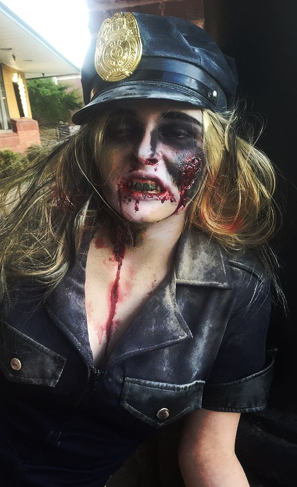 zombie cop costume halloween costume ideas scary costumes ben nye makeup special - Dallas Halloween Parade