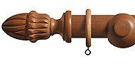 Renaissance Duke 35mm & 45mm Wood Curtain Pole Acorn, Natural