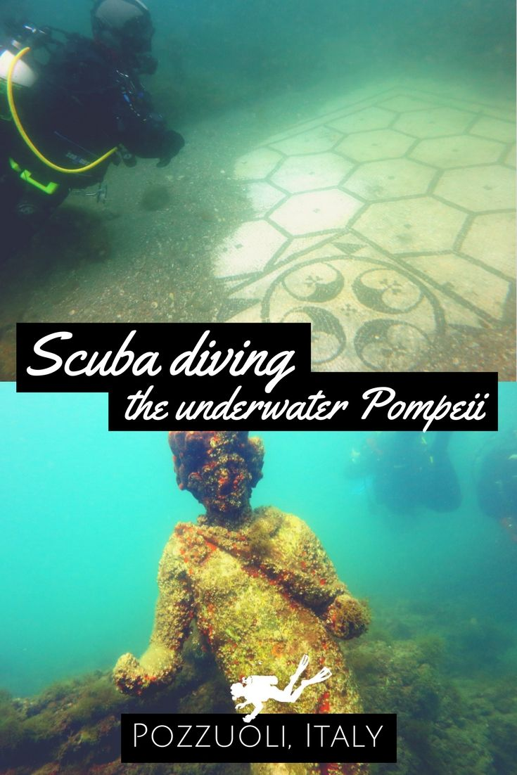 Dive in History: scuba diving the underwater Pompeii in Pozzuoli aka Baia Underwater Archeological Park - World Adventure Divers - Read the full story on https://worldadventuredivers.com/2014/08/05/underwater-pompeii-pozzuoli-italy/ http://www.deepbluediving.org/cressi-giotto-dive-computer-review/