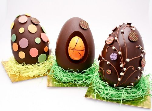 75 best easter chocolate images on pinterest chocolate candies surprise easter eggs from thomas haas chocolates patisserie negle Images