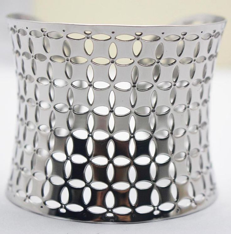 Gypsy Square Bangles 40mm 316L Stainless Steel Bracelet Silver vintage retro Fashion Cuff Bracelet Bangle Free Shipping for her