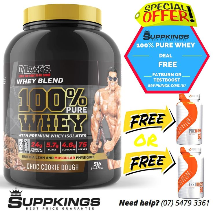 MAX'S 100% PURE WHEY PROTEIN WITH PREMIUM WHEY ISOLATES   5LB