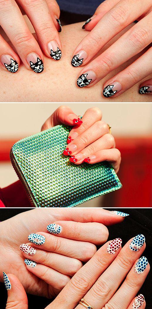 LE FASHION BLOG BEAUTY NAIL INSPIRATION RUNWAY INSPIRED NAIL ART DESIGN MANICURES BY ELIZABETH MONSON: Of Comm, Nailart, Nails Design, Boys, Manicure, Garçon Nails, Garcon Nails, Nails Art Design, The Boy