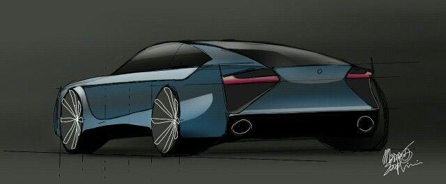 《 Muscle car. Sketch. Concept. Design. Serafini Design Sketching on Samsung. Sketchbook .  :...:》