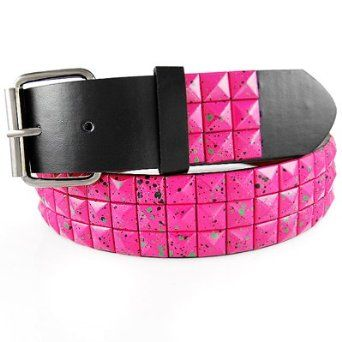 PLAIN METALLIC STUDDED FAUX LEATHER BELT WITH A DETACHABLE BUCKLE (lots of colors and styles available) $7.99