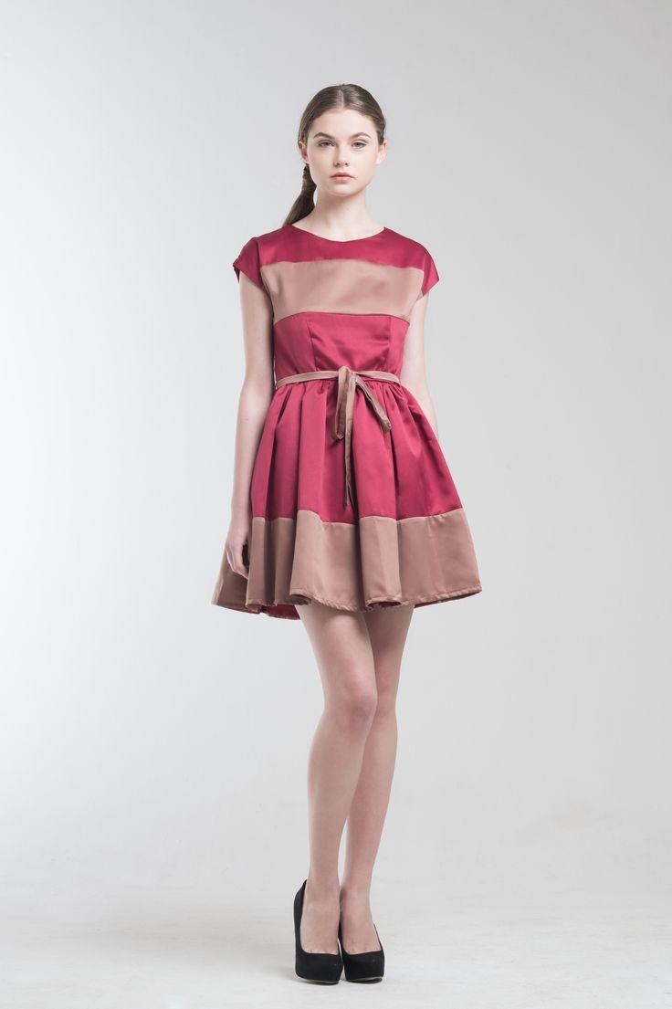Gris Bicolor Dress from Jolie Clothing  #JolieClothing www.jolie-clothing.com  #Fashion #designer #jolie #Charity #foundation #World #vision #indonesia  #online #shop #stefanitan #fannytjandra #blogger