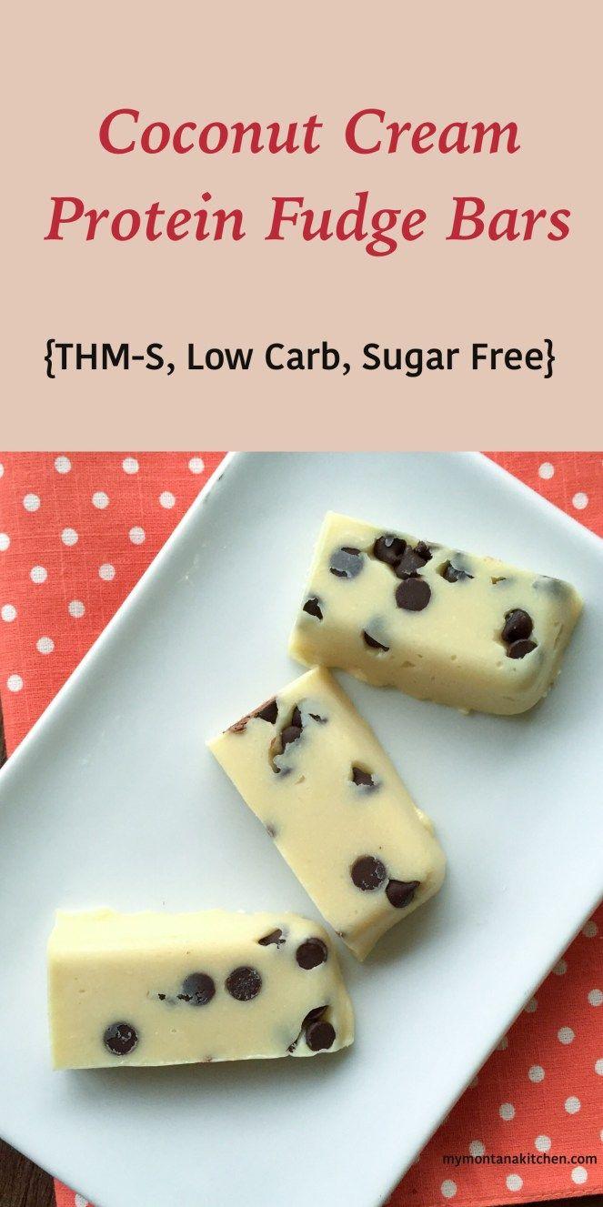 Coconut Cream Protein Fudge Bars {THM-S, Low Carb, Sugar Free, Gluten Free} - My Montana Kitchen