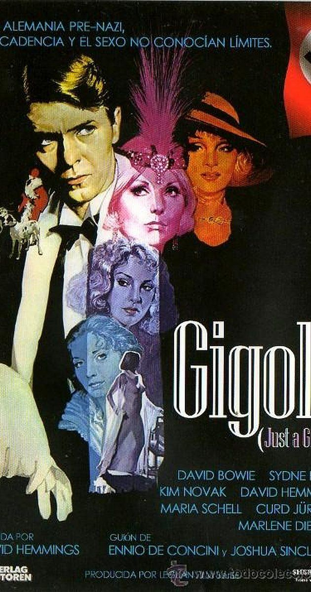 Directed by David Hemmings.  With David Bowie, Sydne Rome, Kim Novak, David Hemmings. After World War I, a war hero returns to Berlin to find that there's no place for him--he has no skills other than what he learned in the army, and can only find menial, low-paying jobs. He decides to become a gigolo to lonely rich women.