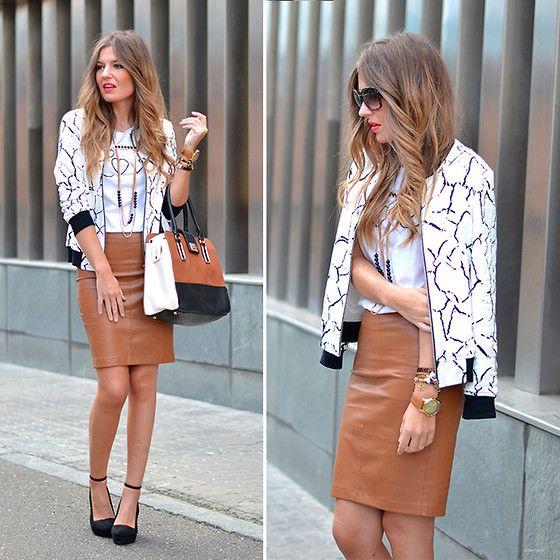 Mentha Shop Jacket, Stradivarius Skirt, Primark Handbag