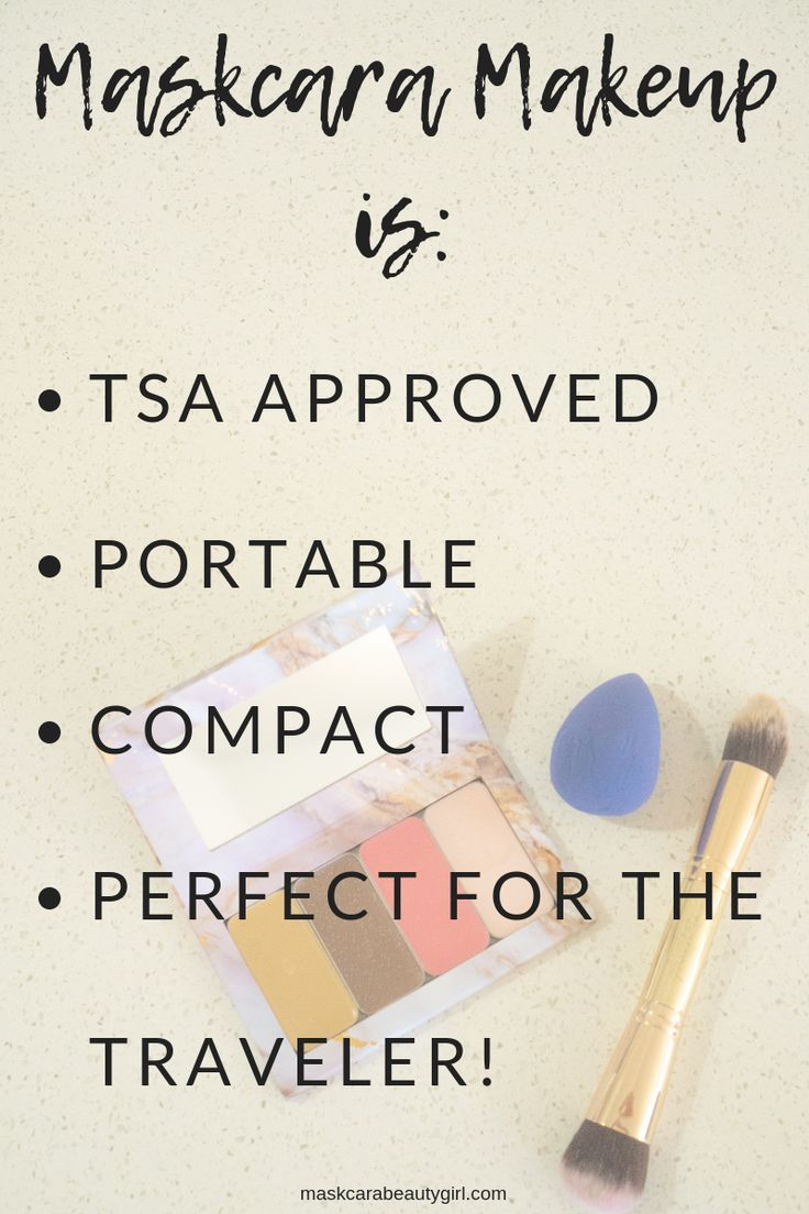 Must Have Makeup for Travelers- Flying with your makeup :) Compact makeup you ca…