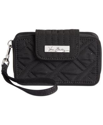 Graced with wit and charm, this pretty wristlet from Vera Bradley makes the case for simplifying your arsenal of essentials. A compartmentalized interior and phone-specific pocket provide smart option