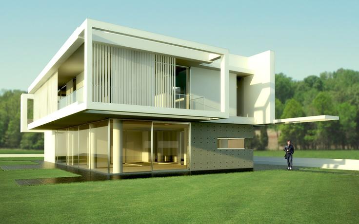 Villa PM - Model by David Hier \/ Rendered by me 3D Pinterest - minecraft küche bauen