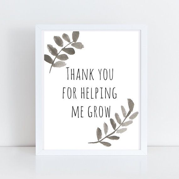 Thank You for Helping Me Grow Wreath Art Print  by SnowpeaDesign