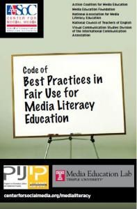 The Code of Best Practices in Fair Use for Media Literacy Education helps educators gain confidence about their rights to use copyrighted materials in developing students' critical thinking and communication skills.