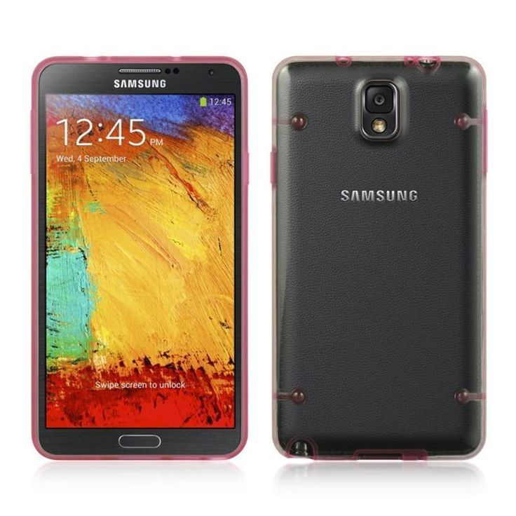 Insten / Hot Pink TPU Rubber Candy Skin Case Cover For Samsung Galaxy Note 3