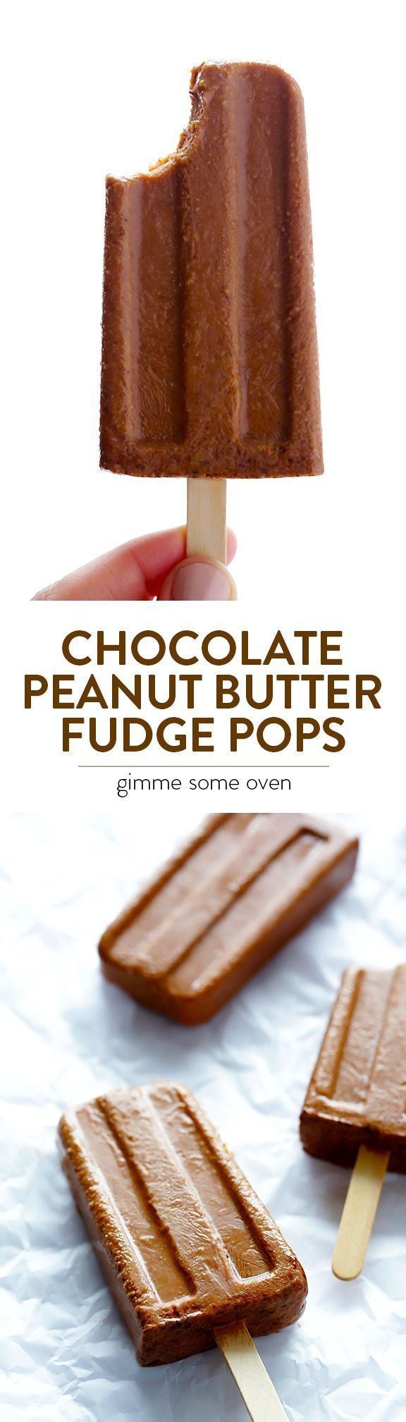 Ingredient Chocolate Peanut Butter Fudge Pops -- quick and easy to ...