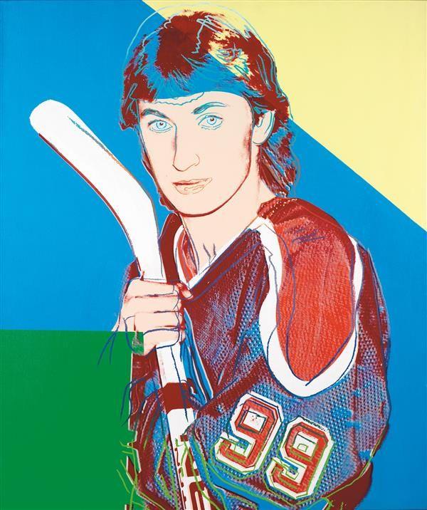 A PROMINENT 20TH CENTURY EUROPEAN COLLECTION December 8th Andy #WARHOL (1928-1987) Portrait of Wayne #Gretzky, 1983 Acrylique et encre sérigraphique sur toile Signée et datée au dos 127 x 107 cm Estimation : € 350,000-500,000