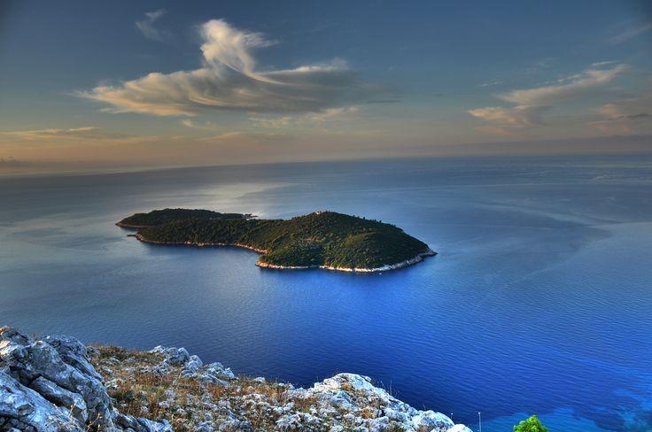 Chorvatský ostrov Lokrum