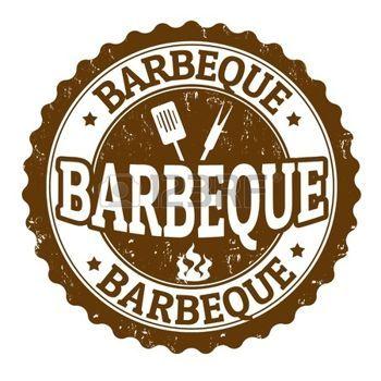 bbq party: Barbeque vintage teken op een witte achtergrond, vector illustratie