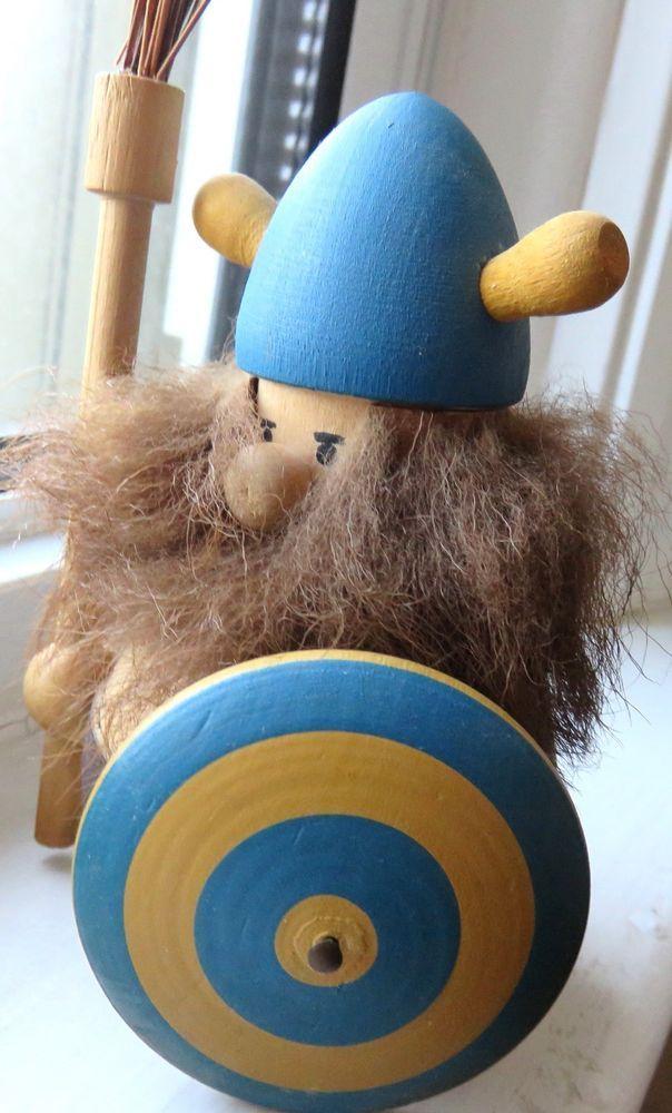Vikings >> LJUNGSTROMS - Wooden Viking Troll Doll Original Label ...