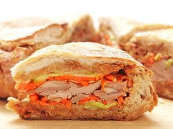 Roast Duck Shooter's-Style Sandwich With Pickled Carrots, Daikon, Cucumber, and Hoisin Sauce | Serious Eats : Recipes