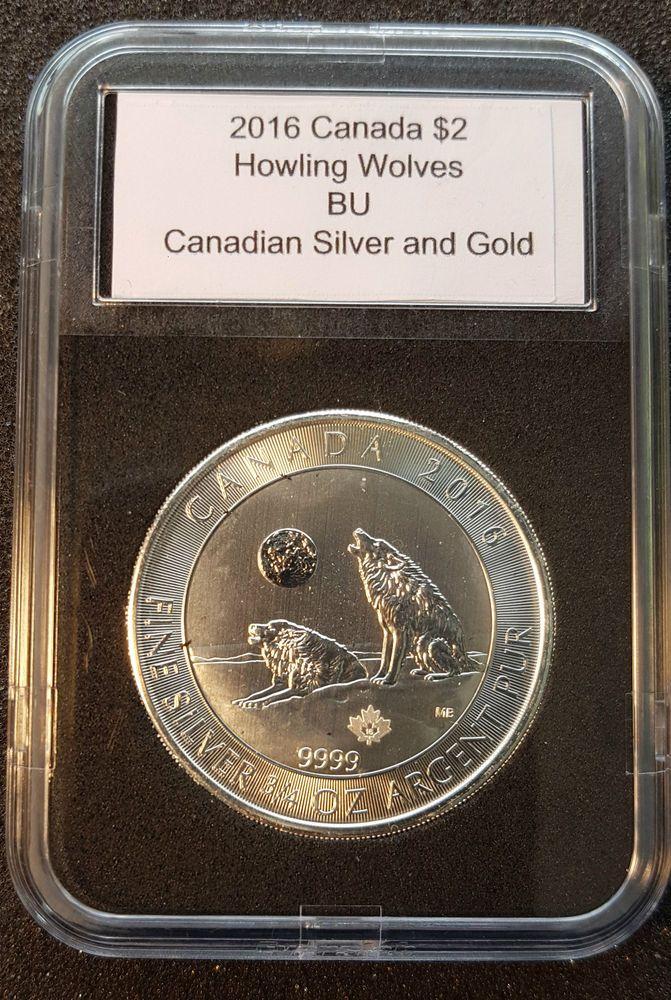 2016 Howling Wolf Canada 3/4 oz Pure .9999 Silver Bullion in an Archival Slab  | eBay