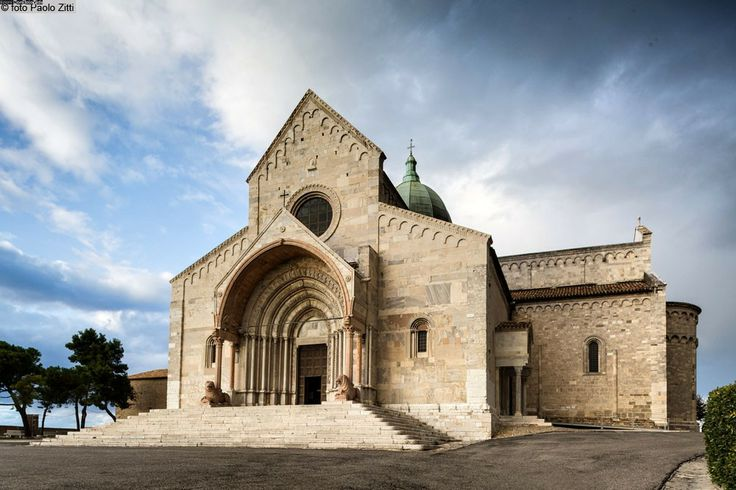 Ancona, San Ciriaco, Italy. Roman style, also known as a rounded curved style with thick walls.