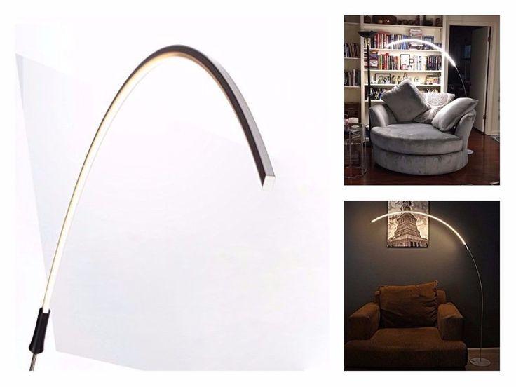 Hanging Minimalistic Decorative Floor Lamp Modern Futuristic Led Dimmer Black