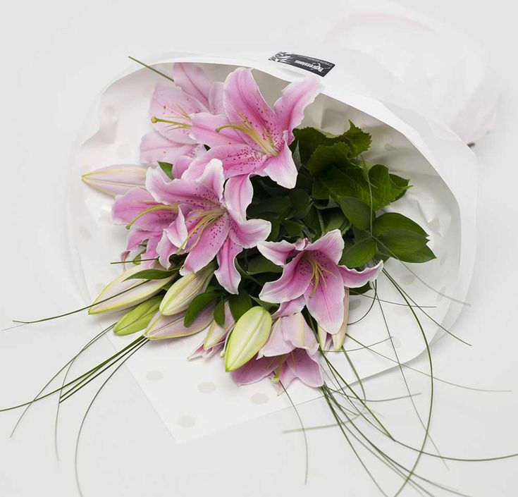 Oriental Lilies Bouquet Pink http://www.expressionsfloral.co.nz/buy-flowers/mothers-day/Pink-Oriental-Lilies-Bouquet-florist-hamilton #Mothersday #lilies #pink