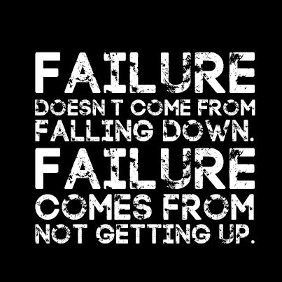 So true, if you never try you won't ever actually fail, just stay afraid of the imagination of failure