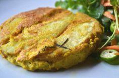 Tortilla espanhola (omelete vegana com batata assada)