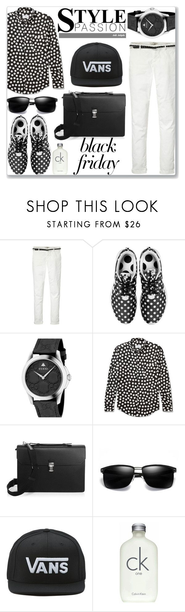 """Steal Those Deals - Black Friday: 22/11/17"" by solyda-sok ❤ liked on Polyvore featuring Maison Scotch, NIKE, Gucci, Dunhill, Vans, Calvin Klein, men's fashion and menswear"