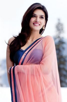 Heropanti Movie Inspired Pink Color Designer Chiffon Saree @ Rs 1190