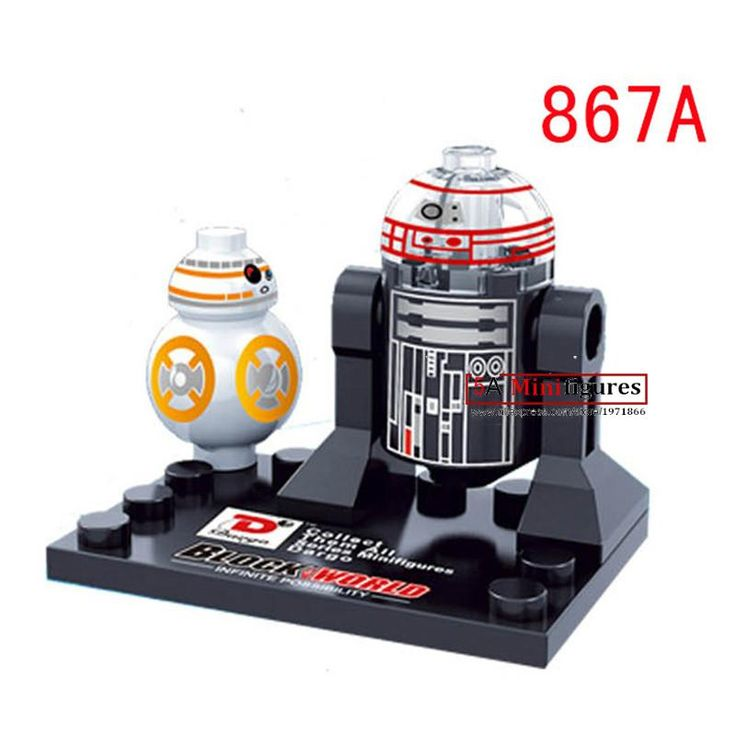 Single sale one piece  Star Wars superheroes Marvel   building blocks baby kids R2D2 BB8 toys action figure