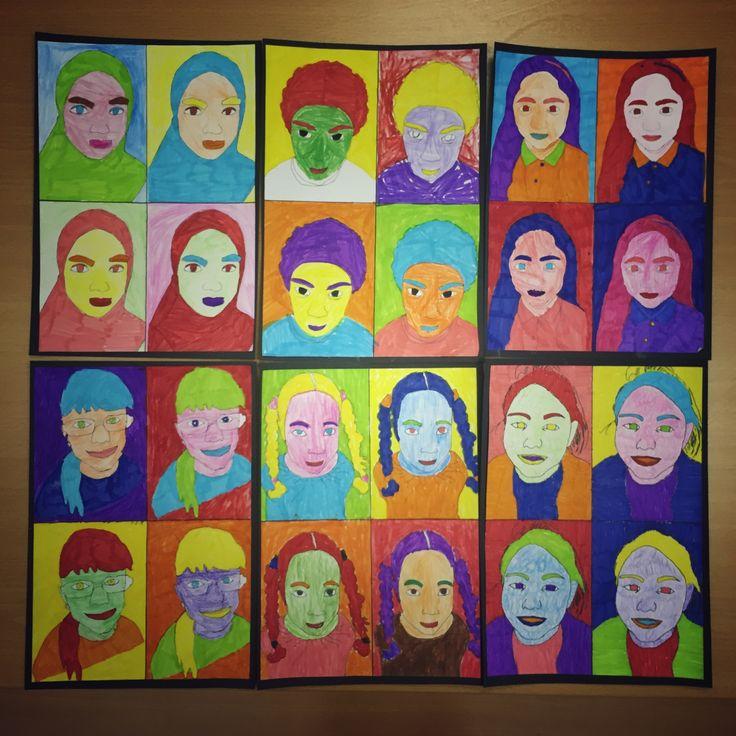 Year 3 Warhol portraits