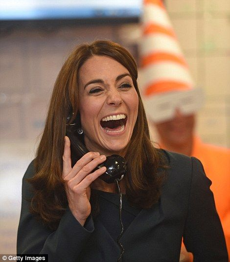 Kate was extremely animated as she helped boost trading volumes