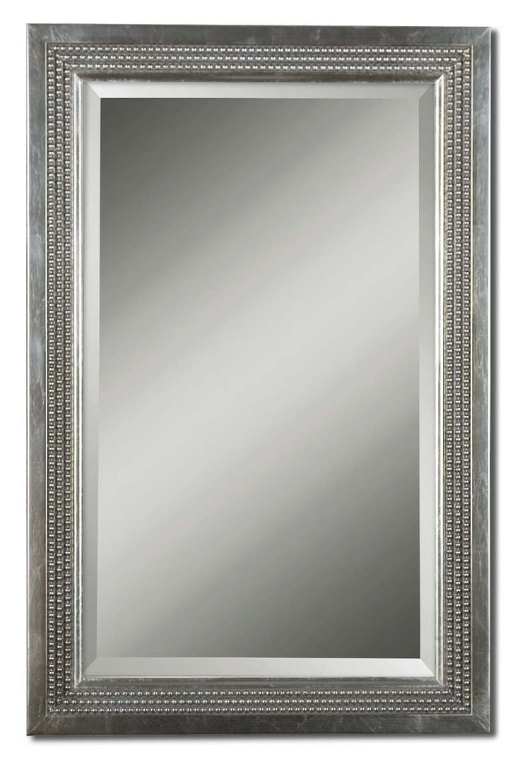 28 best mirrors images on pinterest mirrors transitional uttermost triple beaded silver leaf vanity mirror by uttermost amipublicfo Choice Image