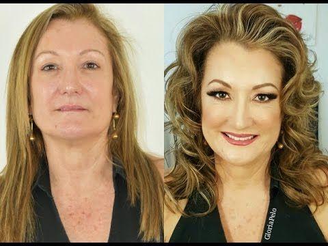 Maquillaje De Ojos Parpados Caidos | Paso A Paso (Profesional) GlamJackie - YouTube