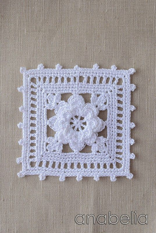 Crochet lace motif nr 1 by Anabelia. This is beautiful. I love it in white! pjc
