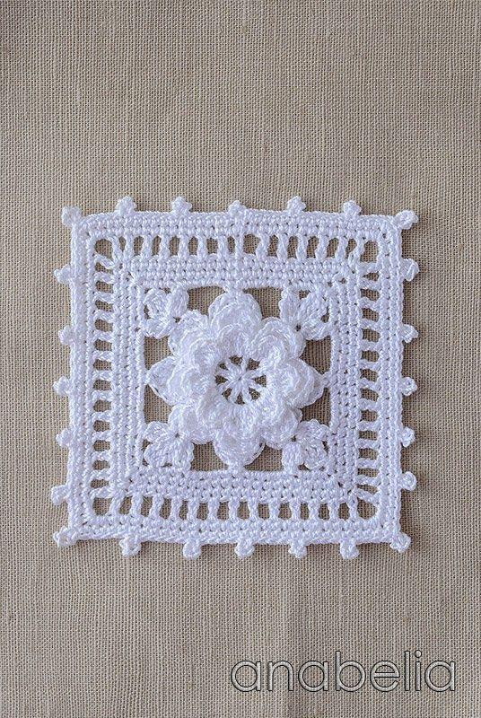 Crochet square, Anabelia Tutorial ☼ Teresa Restegui http://www.pinterest.com/teretegui/☼