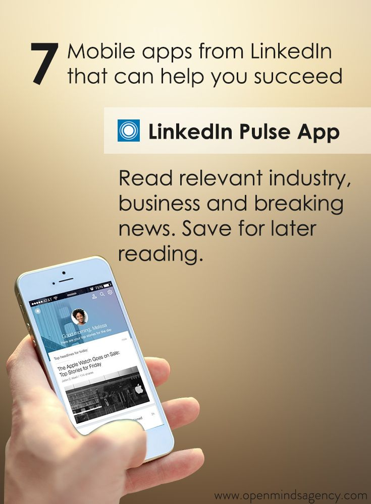 Use LinkedIn Pulse App to read relevant industry, business and breaking news. You can also save for later reading. Read our blog to know more: [Click on the image] #omagency #linkedIn #mobile