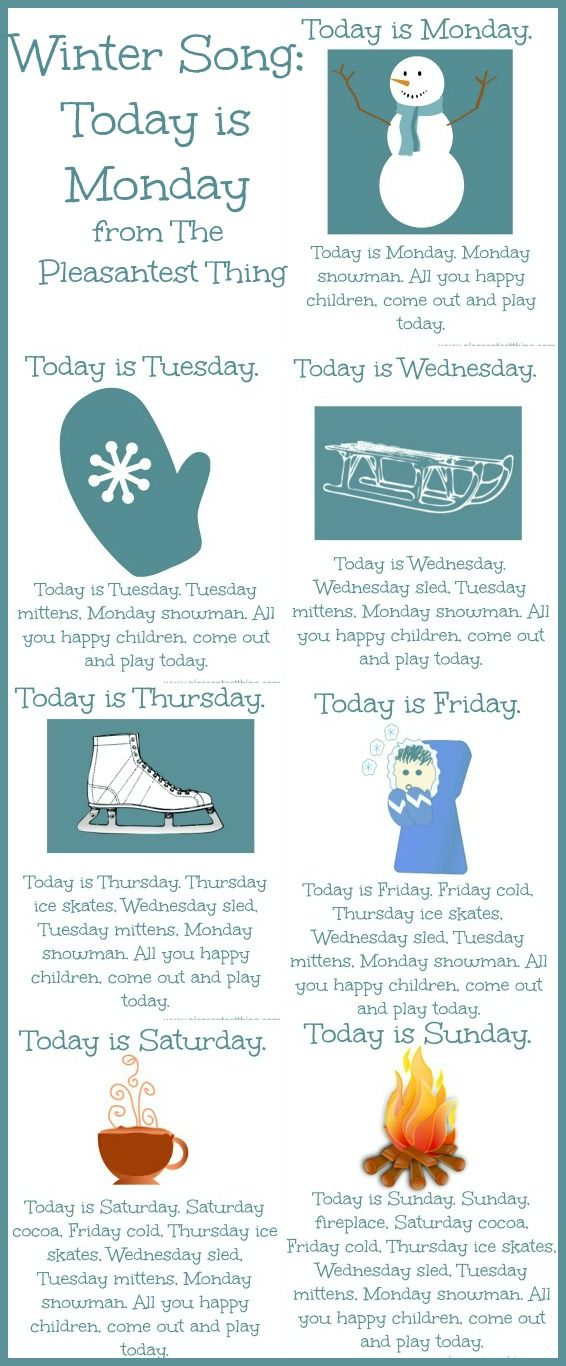 Winter Song: Today is Monday | The Pleasantest Thing