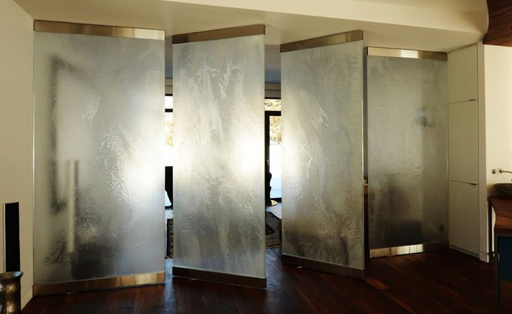 1 2 thick glass crystal colour with natura opalin for Textured glass panels