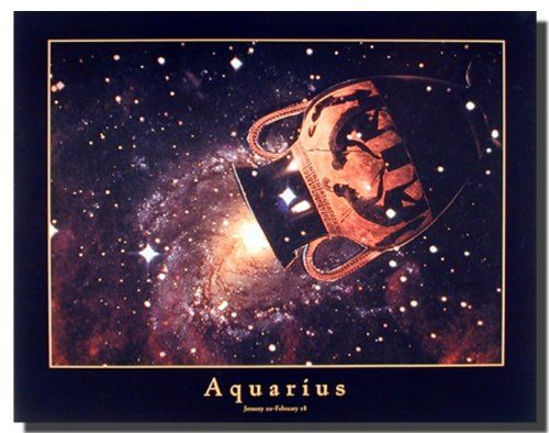 Complement your home with this - Zodiac Sign Astrology art print poster. This wall poster depicts the image of your sun sign, Aquarius which is a perfect way to grab all the luck that is ready to come your way. Aquarius is the eleventh sign of the zodiac, and Aquarians are the perfect representatives for the Age of Aquarius. This wall poster delivers a sharp vivid image with a high degree of color accuracy which ensures long lasting beauty of the product.