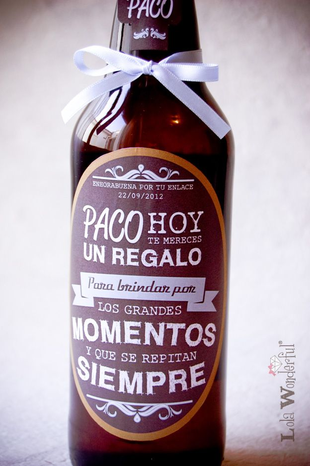 Lola Wonderful_Blog: Regalo de boda: Cervezas personalizadas