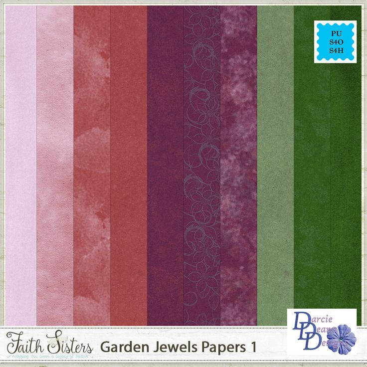 Garden Jewels Papers 1